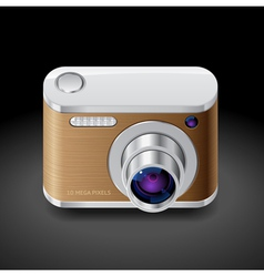 Icon for compact photo camera vector image
