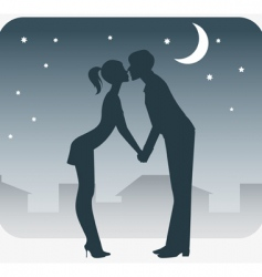 night rendezvous vector image vector image