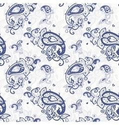 Paisley Hand drawn seamless pattern vector image