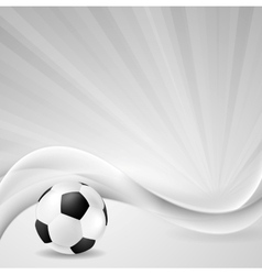 Soccer background with abstract waves vector image