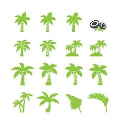coconut tree icon vector image vector image