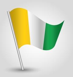 ivory coast flag on pole vector image vector image