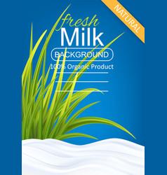 Milk package template vector