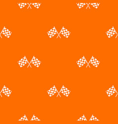 checkered racing flags pattern seamless vector image vector image