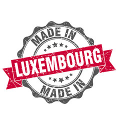made in luxembourg round seal vector image