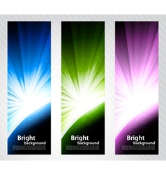 Set of bright banners vector image