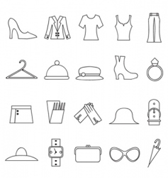 woman fashion and clothes icon vector image vector image