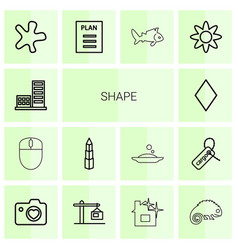 14 shape icons vector