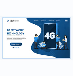 4g network technology concept internet systems vector