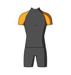 A cycling suit for riding a bicycle clothes vector