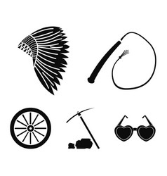 a whip an indian maghawk a wheel from a cart a vector image