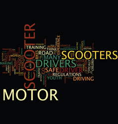 Are motor scooters safe yes and no text vector