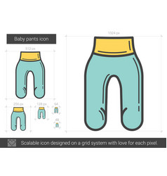 baby pants line icon vector image