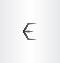 black e logo letter e symbol vector image