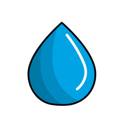 blue water drop save eco vector image