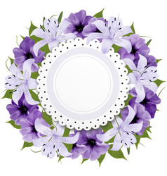 Border of colorful flowers vector