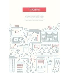 Business Training - line design brochure poster vector image vector image