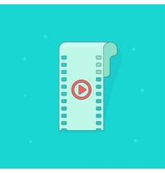 Camera film strip filmstrip flat icon isolated vector image vector image