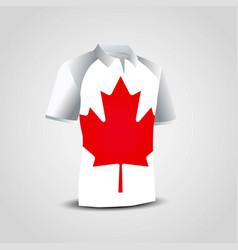 canada flag shirts design vector image