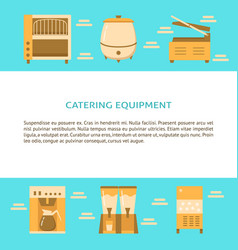 catering equipment banner template in flat style vector image