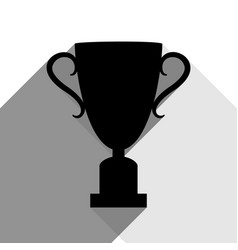 champions cup sign black icon with two vector image