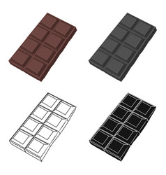 Chocolate icon in cartoon style isolated on white vector