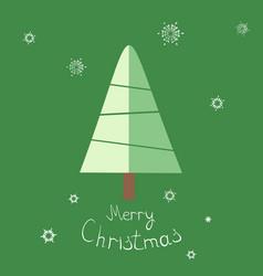 christmas tree and snowflake vector image