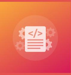 Code optimization icon transparent vector