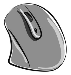 Computer mouse on white background vector