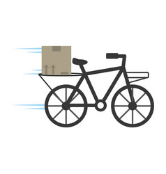 delivery bicycle box service vector image