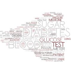 Diabetes word cloud concept vector