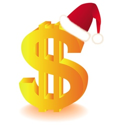 dollar currency xmas vector image