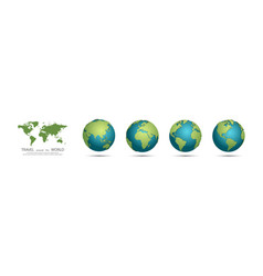 earth globes collection set of 3d earth globes vector image