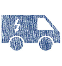 Electrical car fabric textured icon vector