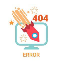 error icon 404 not found broken message banner vector image