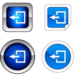 Exit button set vector