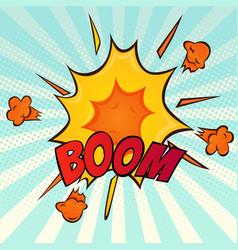explosion retro comic cartoon icon vector image