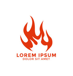 fire flame logo icon design template vector image