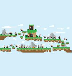 flat islandlandscapewar gameretro vector image