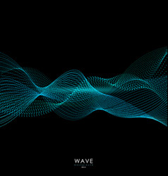 flowing particle waves vector image