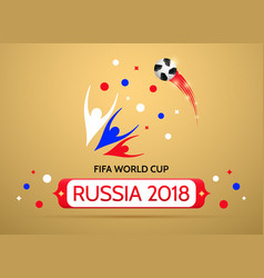 Football championship in russia 2018 vector