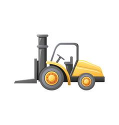 forklift loader warehouse vector image