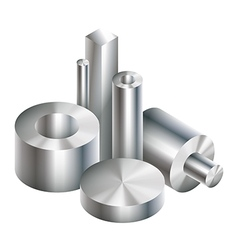 Group metal steel objects forging vector image