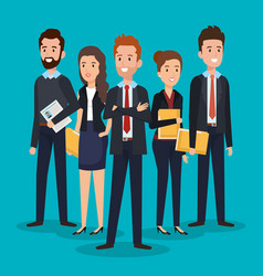 group of people human resources vector image