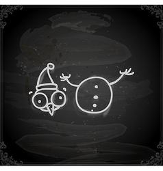 hand drawn beheaded snowman vector image