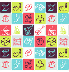 hand drawn icons set - leisure vector image