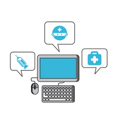Health care online icon vector