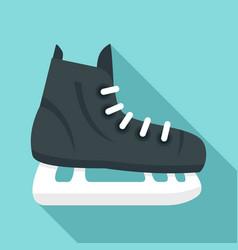 Hockey ice skate icon flat style vector