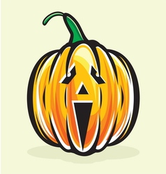 Holiday pumpkin jack lantern vector image