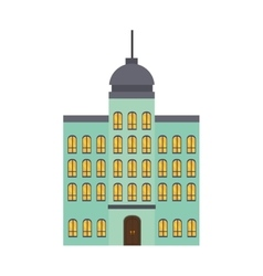 Hotel building property vector